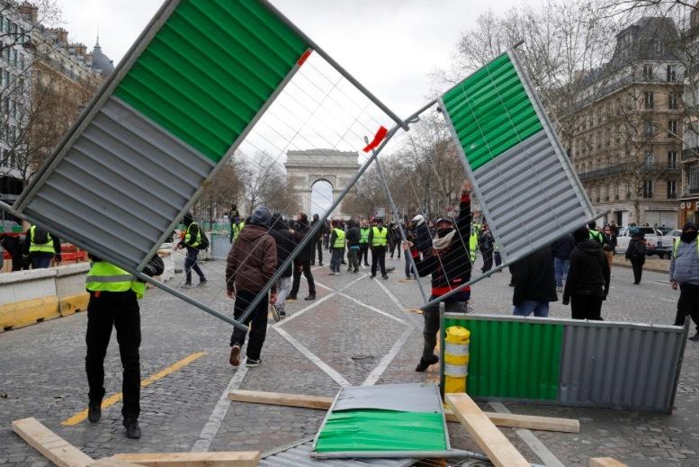 biểu tình áo khoác vàng,biểu tình Paris,biểu tình,bạo động,Paris