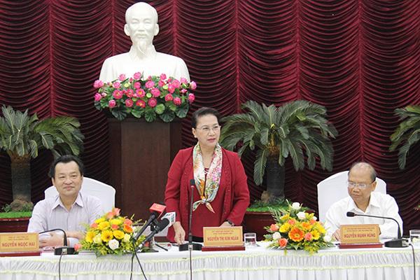 Chủ tịch Quốc hội Nguyễn Thị Kim Ngân làm việc tại Bình Thuận