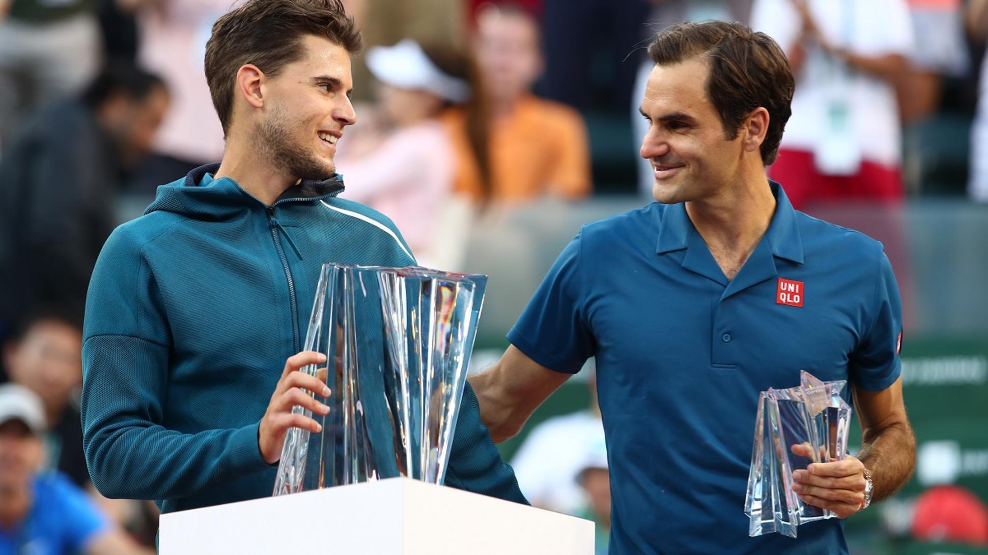 Indian Wells 2019,Federer vs Dominic,Federer