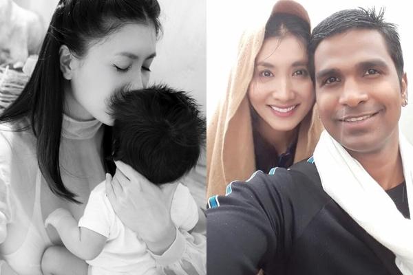 Nguyệt Ánh 'Cổng mặt trời' khoe con với chồng Ấn Độ sau một năm giấu kín