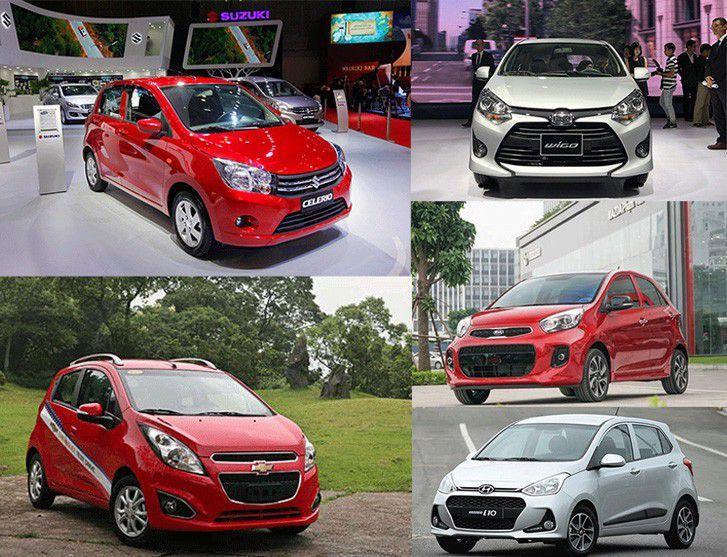 ô tô giá rẻ,Chevrolet Spark,Hyundai Grand i10,KIA Morning,Suzuki Celerio,Toyota Wigo,xe nhỏ giá rẻ