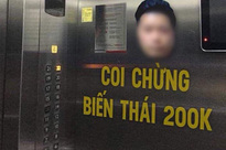 Cửa hàng từ chối phục vụ, cư dân kêu gọi dán hình kẻ 'dê xồm' sàm sỡ nữ sinh trong thang máy để cảnh báo