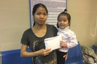 Bé Nguyễn Thị Nhật Hạ đã được xuất viện về nhà
