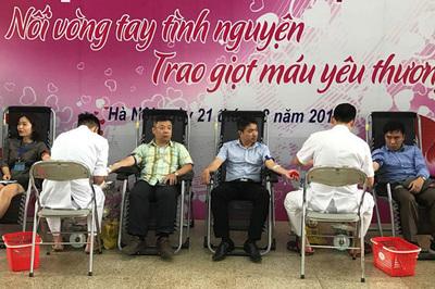 Hiến máu giúp các bệnh nhi tại Bệnh viện Nhi TƯ