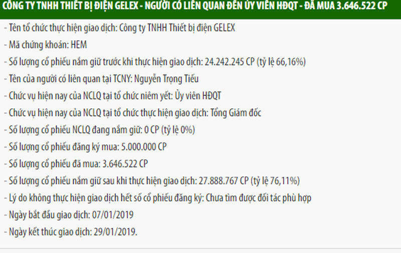 Gelex,Tuấn mượt,Cadivi,Nguyễn Văn Tuấn,thâu tóm,GEX,dây cáp điện,Bộ Xây dựng