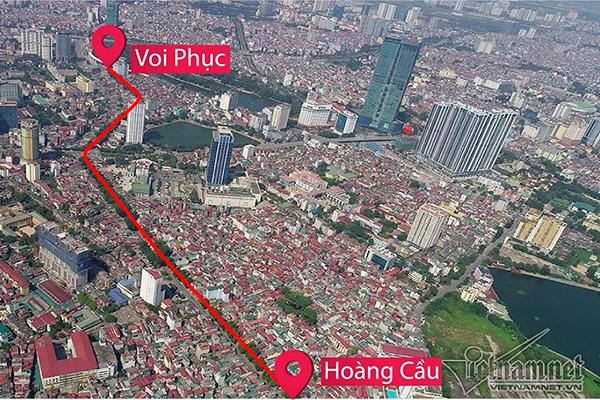 Chủ tịch Hà Nội,Nguyễn Đức Chung,Hoàng Cầu-Voi Phục,đường vành đai 1