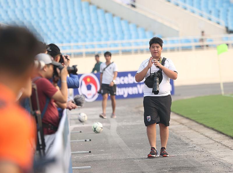 U23 Thái Lan 'thư giãn' ở Mỹ Đình chờ đấu Indonesia