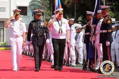 Philippines, Nga thúc đẩy hợp tác hải quân
