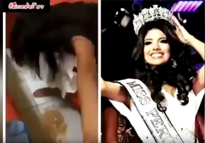 Hoa hậu Peru có thể bị truất ngôi vì ăn mặc hở hang, lộ clip say xỉn