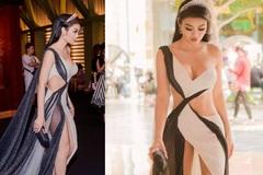 Thót tim ngắm váy xẻ hiểm của 'hoa hậu ăn chơi nhất Sài Gòn'