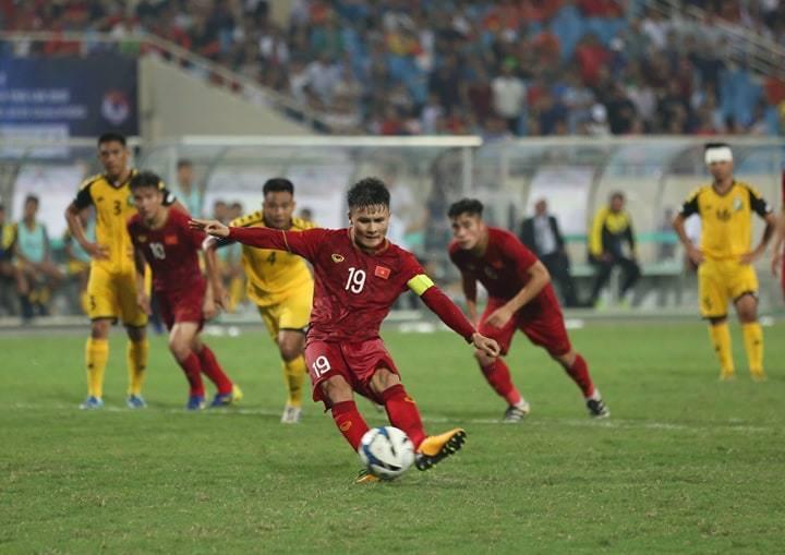 U23 Việt Nam,U23 Brunei,Hà Đức Chinh,Quang Hải