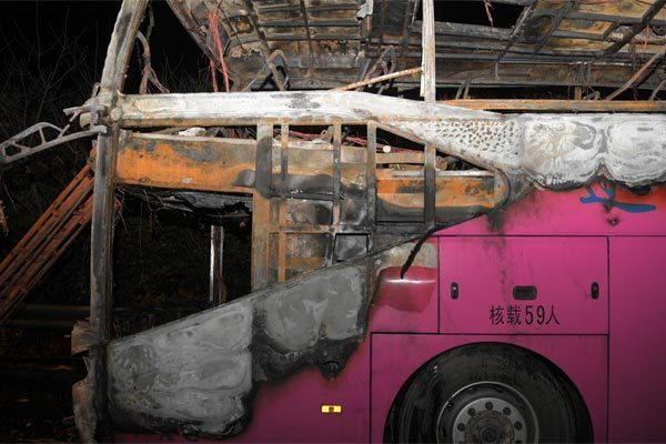 Trung Quốc,tai nạn,hỏa hoạn,cháy xe khách