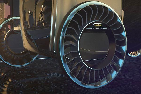 Ý tưởng lốp xe kiêm cánh quạt, biến xe bình thường thành xe bay