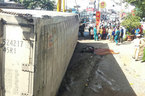 Vụ lật xe container: Cả gia đình 3 người chết thảm