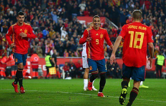 Tây Ban Nha,Na Uy,Vòng loại Euro 2020
