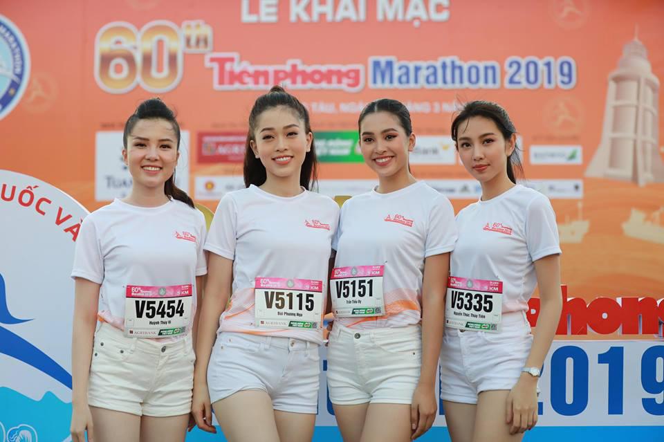 Hoa hậu Tiểu Vy và dàn người đẹp khoe sắc trên đường chạy Tiền Phong Marathon