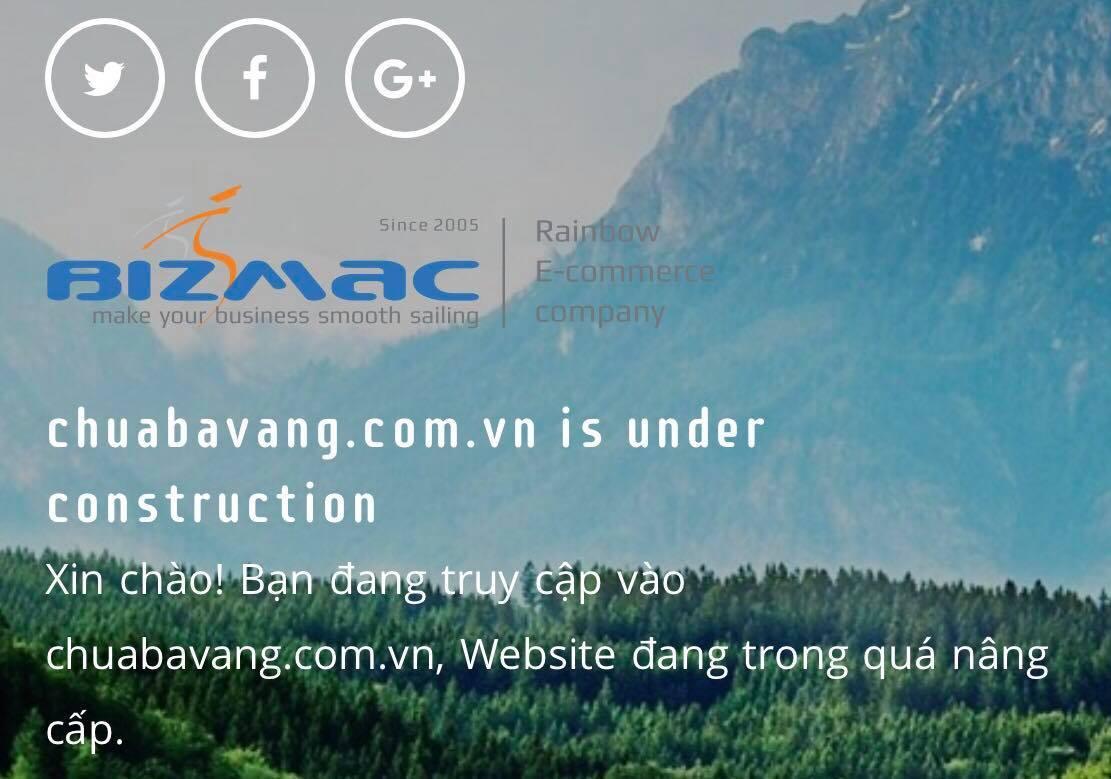Website của chùa Ba Vàng bị tạm dừng hoạt động
