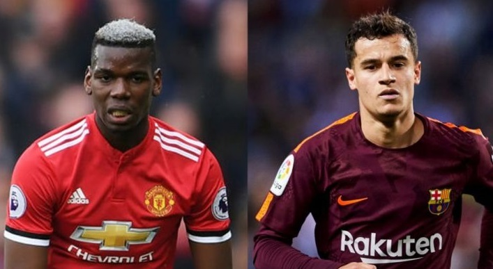 MU,Barca,Coutinho,Paul Pogba,Man City