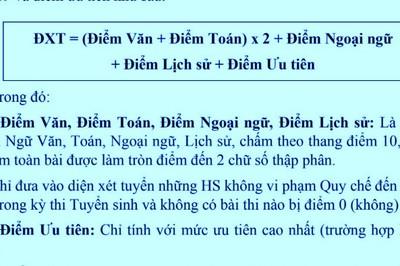 Cách tính điểm xét tuyển vào lớp 10 THPT công lập ở Hà Nội năm 2019
