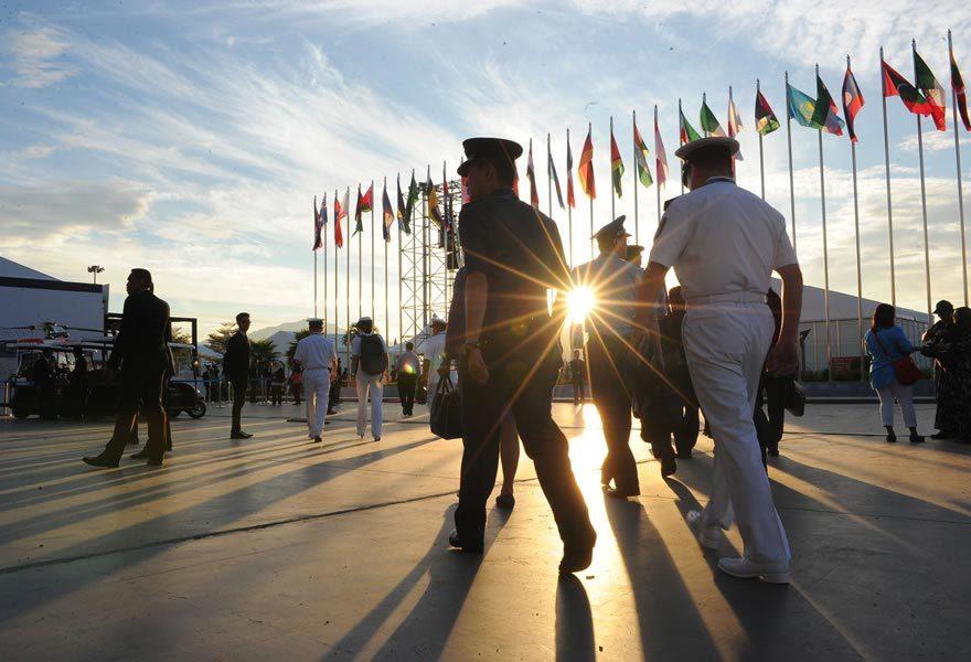 Hình ảnh triển lãm quốc phòng có sự tham gia của tàu 012 Lý Thái Tổ