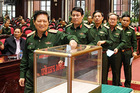 Lấy phiếu tín nhiệm các ủy viên Thường vụ Quân ủy Trung ương