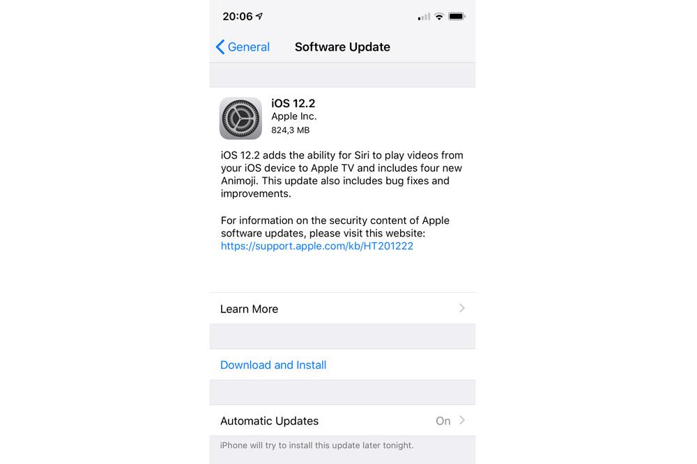 Apple phát hành iOS 12.2 hỗ trợ Apple News+, Animoji mới