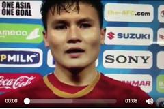Clip đội trưởng Quang Hải tiết lộ 'vũ khí bí mật' giúp U23 Việt Nam đại thắng 4 - 0 trước Thái Lan