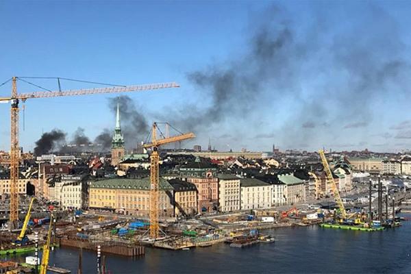 Nổ lớn rung chuyển Stockholm