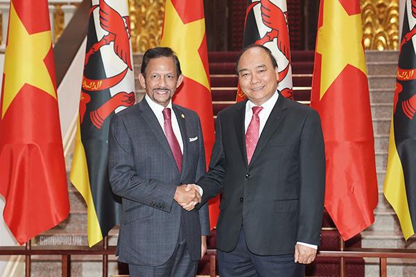 Thủ tướng: Coi hợp tác biển là một trụ cột trong quan hệ Việt Nam-Brunei