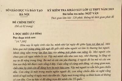 Đềvănthi thử THPT quốc gia năm 2019 của Hà Nội