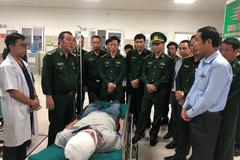 Thượng uý biên phòng bị đâm khi bắt ma túy ở Lào