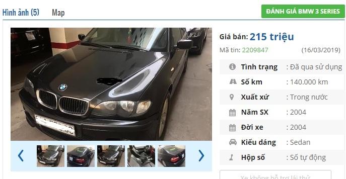 Loạt BMW cũ 'sang chảnh' giá chỉ 200 triệu tại Việt Nam
