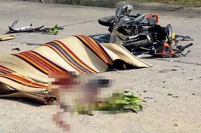 Đi đưa thiệp cưới, thanh niên tông vào xe công nông tử vong
