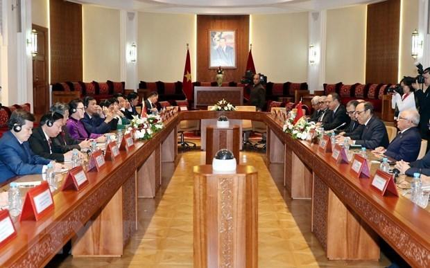 Chủ tịch Quốc hội,Nguyễn Thị Kim Ngân,Maroc