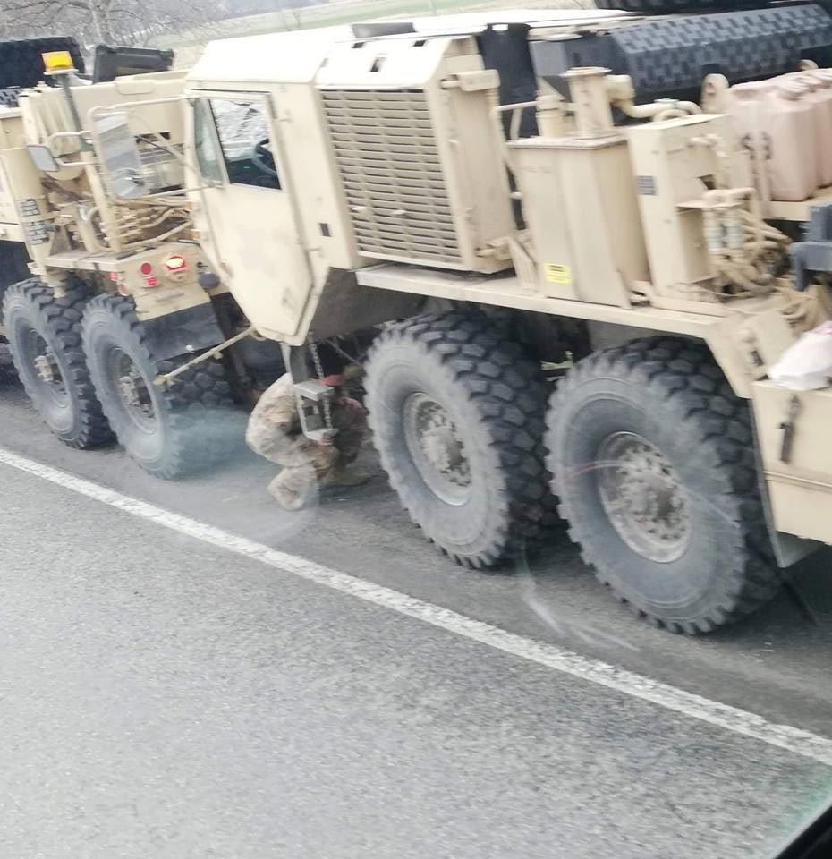 Đoàn xe quân sự Mỹ gặp tai nạn liên hoàn ở Ba Lan