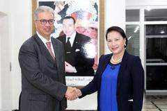 Chủ tịch Quốc hội gặp Toàn quyền Vùng Marrakech-Morocco