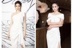Huyền My, Đặng Thu Thảo, Tiểu Vy xinh đẹp với váy trắng kiêu kỳ