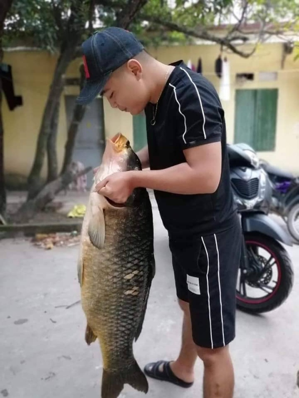 Bắt được con cá chép 20kg, sang tay ngay chục triệu đồng