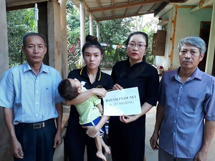 Bé Trần Bảo Long được ủng hộ hơn 100 triệu đồng