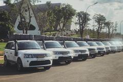 """Dàn 12 chiếc Range Rover khủng """"hộ tống"""" Đặng Lê Nguyên Vũ"""