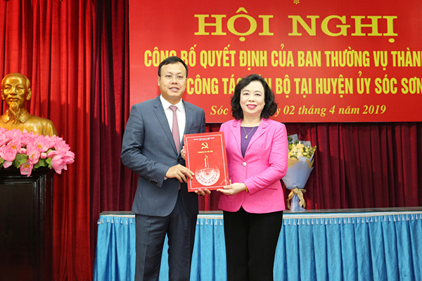 Ông Phạm Quang Thanh làm Phó Bí thư huyện Sóc Sơn