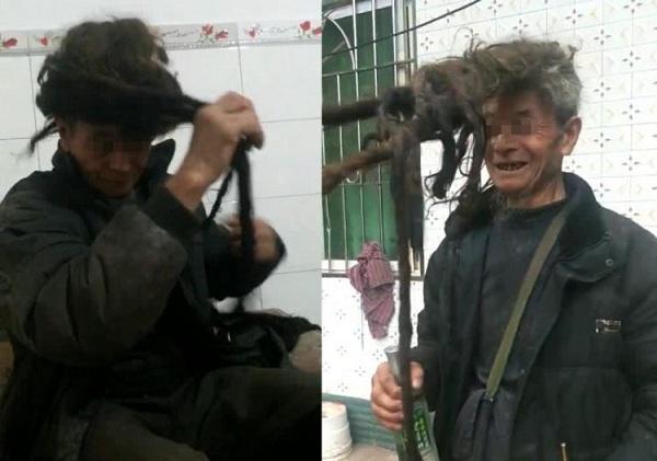 Ông lão không cắt tóc hơn nửa thế kỷ