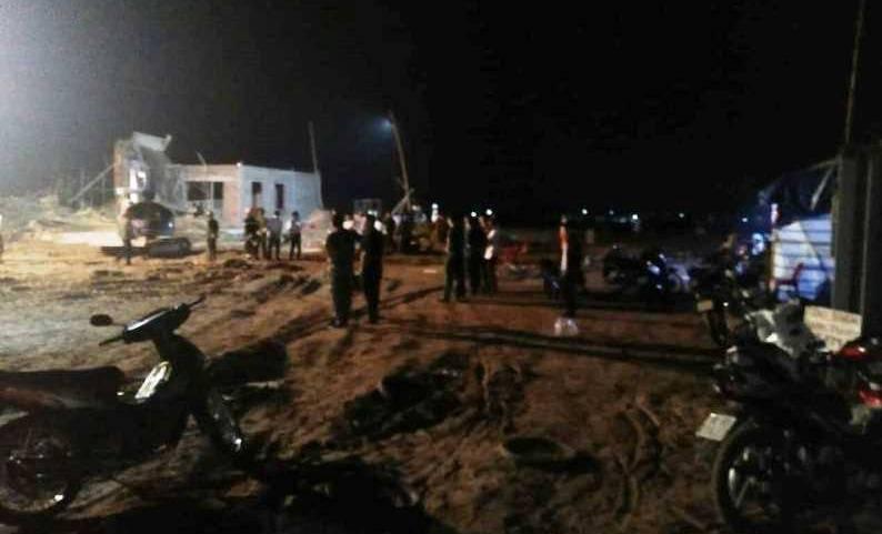 Sập giàn giáo cây xăng, 1 người chết, 7 người bị thương