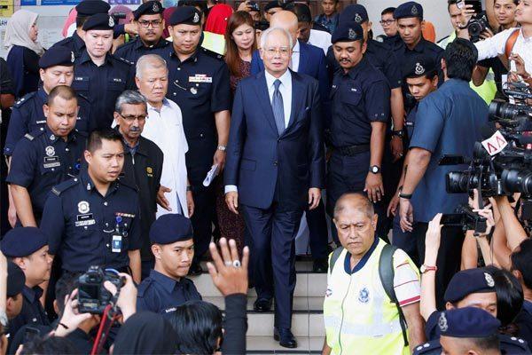 Malaysia,Najib Razak,hầu tòa,tham nhũng,biển thủ