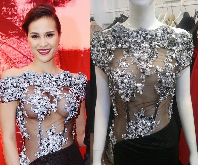 Mặc xuyên thấu chơi trội trên thảm đỏ, mỹ nữ Việt khiến quan khách 'đỏ mặt'
