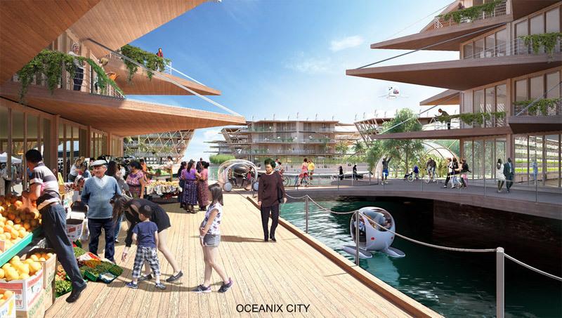 Ra mắt thiết kế thành phố nổi vạn dân không sợ thiên tai