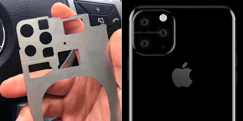 Rò rỉ bằng chứng cụm camera 3 ống kính trên iPhone 11