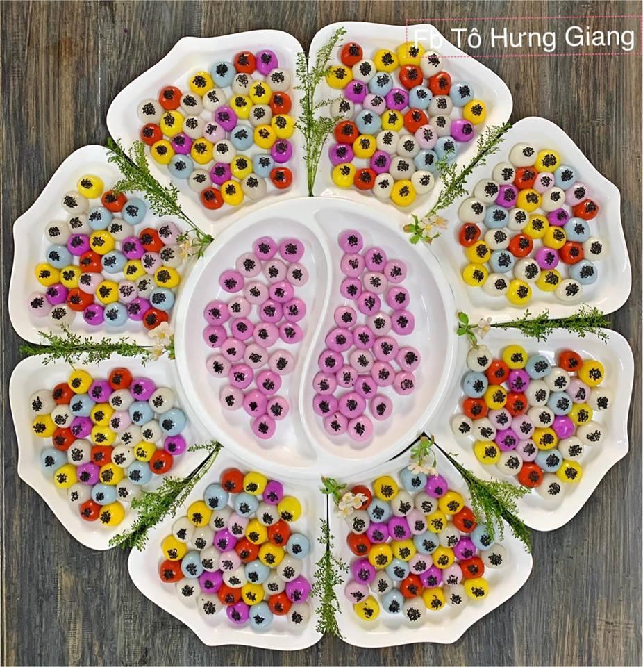 Chị em khoe bánh trôi, bánh chay đẹp không nỡ ăn ngày Tết Hàn thực