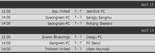 Lịch thi đấu vòng 7 K-League của Công Phượng