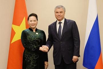 Chủ tịch Quốc hội hội kiến Chủ tịch Đuma Quốc gia Nga